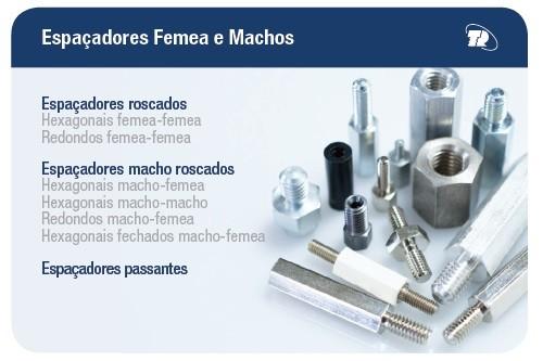 ESPAÇADORES FEMÊA E MACHOS